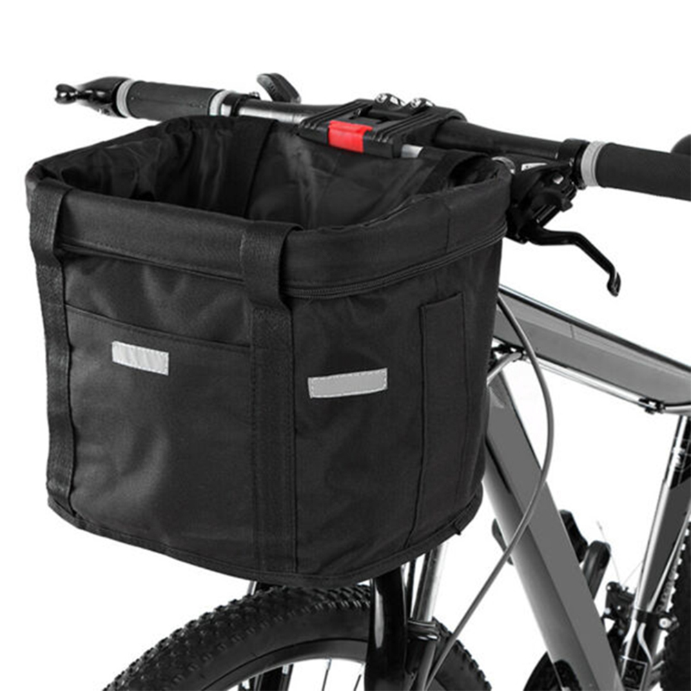 Bicycle Front Basket Basket Front Bag Rear Removable Waterproof <font><b>Bike</b></font> Handlebar Basket Pet <font><b>Carrier</b></font> Bag Cycling <font><b>Accessories</b></font> image