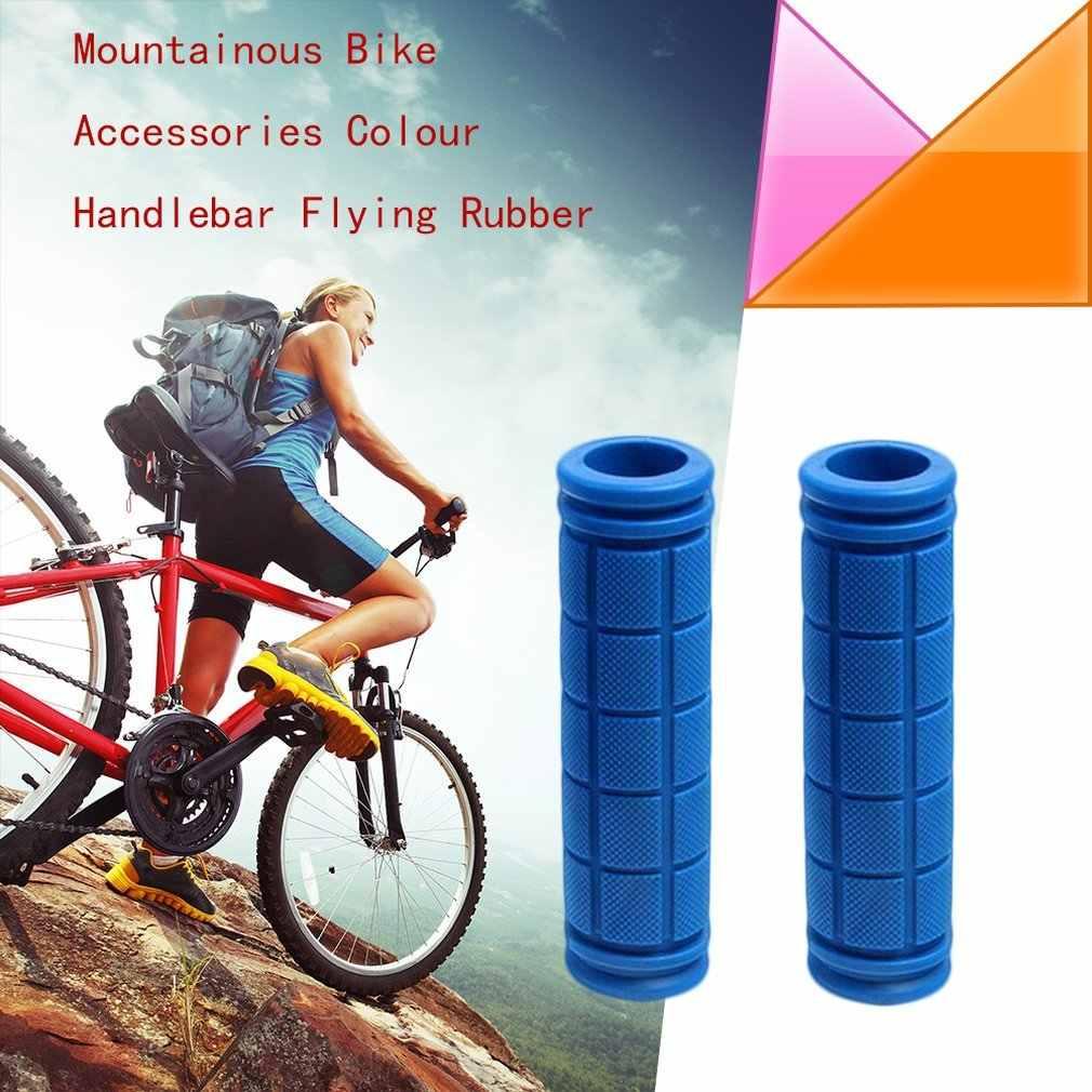 1Pair Non-slip Mountain Bike Cycling Bicycle Durable Rubber Handlebar Grips SJ