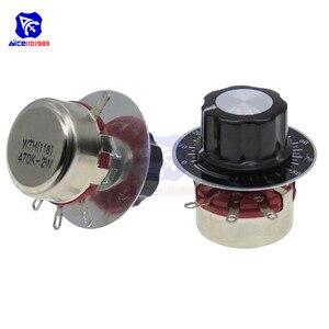 470R 1K 2,2 K 4,7 K 10K 22K 47K 100K 220K 470K Ohm 3Pin линейный конический Поворотный Потенциометр переменный резистор для Arduino w/Cap Dial