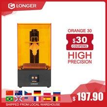 Impressora 3d do sla da elevada precisão da impressora 3d de Longer Orange 30 com 2k tela lcd paralela uv conduziu a iluminação 405nm impressora uv da resina 3d printer impresora 3d impressora 3d 3d printer kit