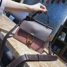 Vintage Contrast Color Women Big Handbag Fashion Pu Small Flap High Quality Chain Ladies Shoulder Messenger Bags Casual Tote Bag все цены