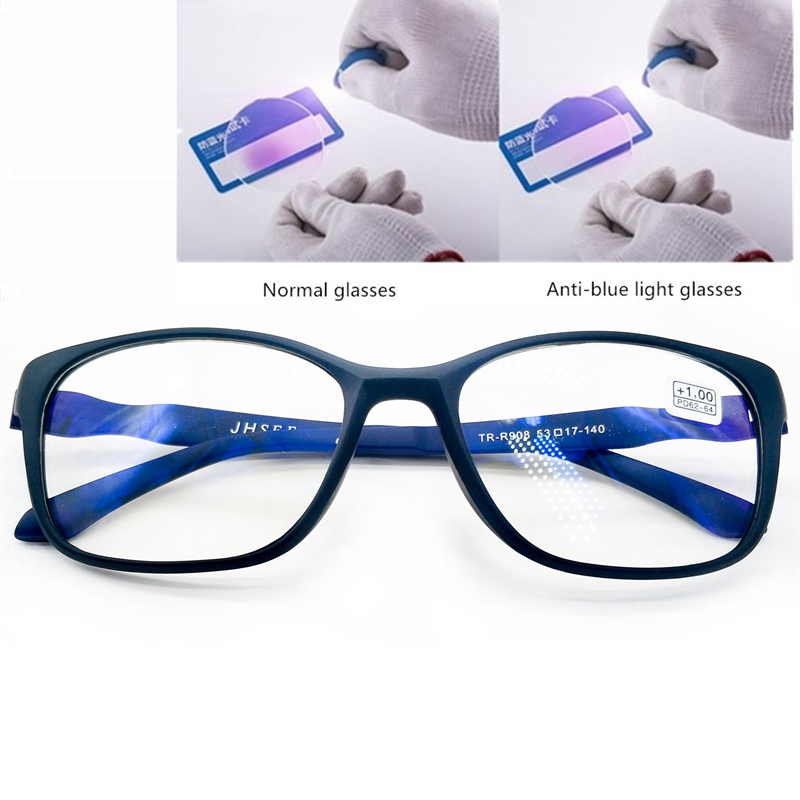 Tr90 Anti Blue Ray Reading Glasses Men Flexible High Quality Magnifying Presbyopia Computer Glasses Eyewear Antifatigue 1.5 2.0