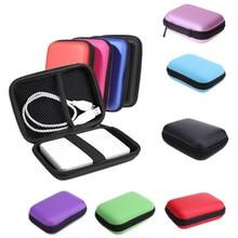 """2."""" HDD сумка жесткий диск чехол молнию внешний жесткий диск защитная крышка PowerBank Mobile HDD Box Дело caddy чехол для жесткого диска"""