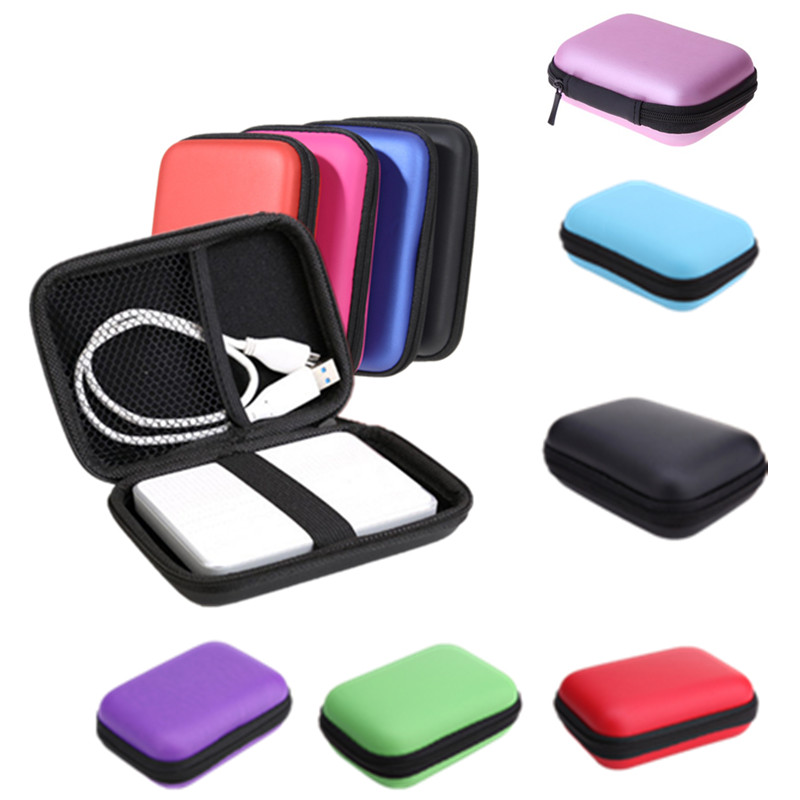 HDD Bag Hard Drive Disk Case Zipper Pouch Earphone External Protector Bags Cover Powerbank Mobile EVA Storage Carrier Box Caddy image