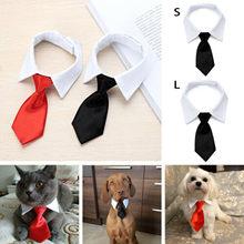 Кота собаки любимчика деловой галстук-бабочка для смокинга черно-красный ошейник для собаки кошки Pet набор аксессуаров для малых и средних ...