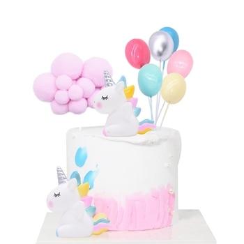 Rainbow Unicorn Cake Topper Wedding Birthday Party Decoration Kids Favors Flags Cupcake Supplies