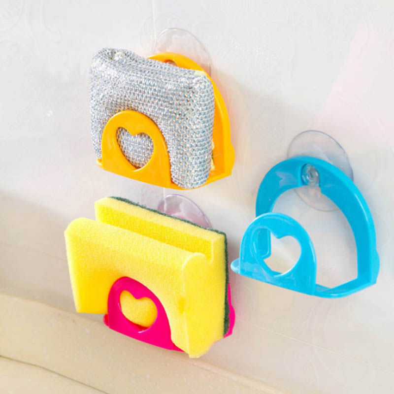 1pc Bathroom Shelf Towel Soap Dish Holder Multi-purpose Kitchen Wall Cleaning Sink Sponge Storage Holder Rack Robe Hooks Sucker