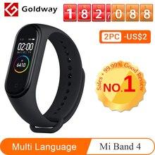 Xiaomi mi Band 4 умный браслет 3 цвета AMOLED экран mi band 4 Smartband фитнес-тренажер Bluetooth спортивный водонепроницаемый смарт-браслет