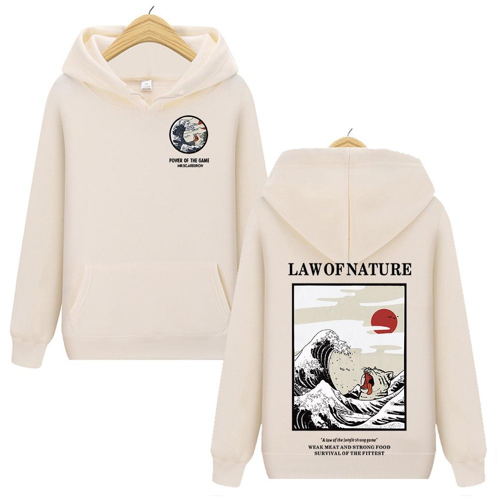 Funny Hoodie Solid Lady Fleece Hoody Harajuku Funny Cat Printed Pullover Hoodies Hip Hop Casual Streetwear Sweatshirts Tops