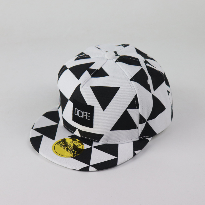 Baseball-Cap Dope Patch Triangle Block Printing Hip Hop Hats Tide Sports Cap Men And Women Lovers Flat Edge Baseball Hat