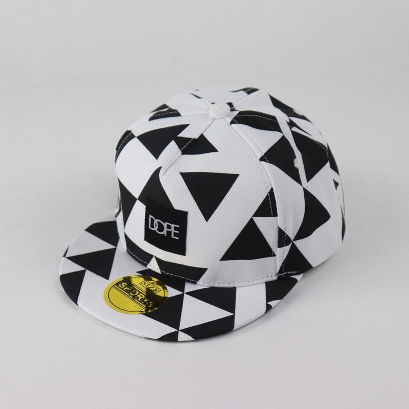Baseball-Cap Dope Patch Triangle Block Printing Hip Hop Hats Tide Sports Cap Men And Women Lovers Flat Edge Baseball Hat