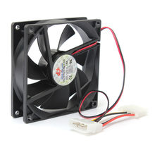 Baru Kedatangan 90 Mm/90X90X25 Mm Pendingin Komputer PC CPU Silent Cooling Case Hitam 12V 4-Pin(China)