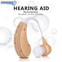 Wireless BTE Hearing Aid Rechargeable Sound Amplifier Earphone for Old People Hearing Loss Hard Hearing Skin Color Audifono bluetooth hearing aid rechargeable s 101 feie headphone deafness earphone fit audiogram severe hearing loss best selling