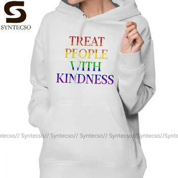 Treat People With Kindness Hoodie TREAT PEOPLE WITH KINDNESS - PRIDE Hoodies Street wear Long Sleeve Pullover
