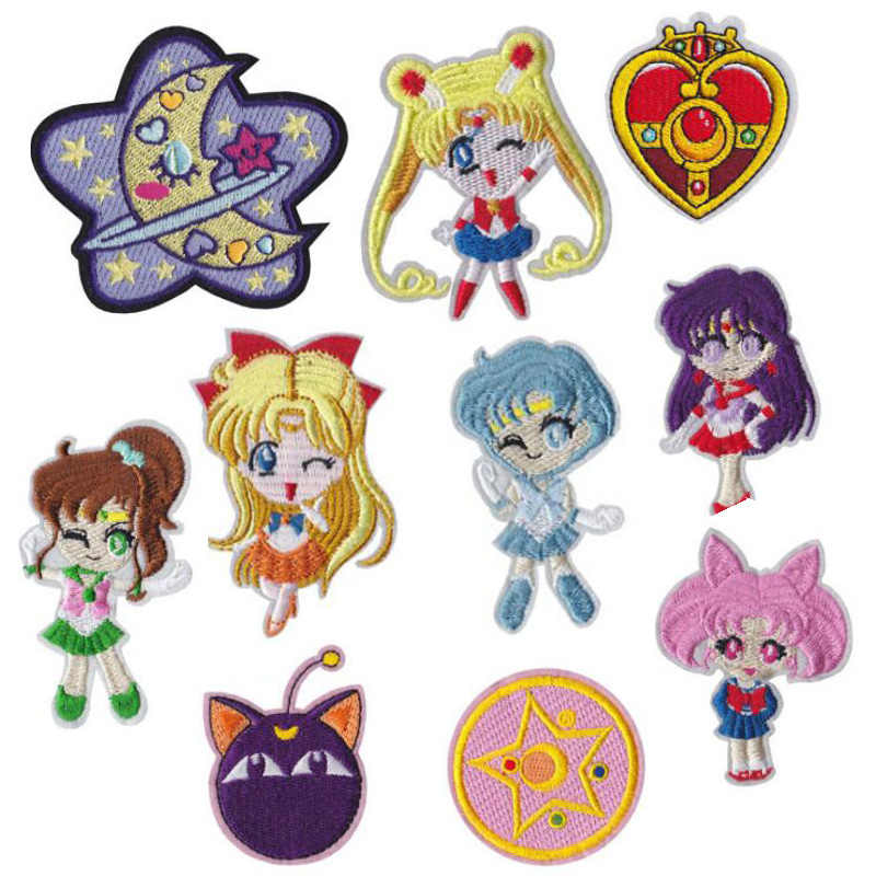 Japan Anime Sailor Moon Borduurwerk Patches Voor Kleding DIY Naaien Iron Op Patch Applique Jas Rugzak Badges Stickers