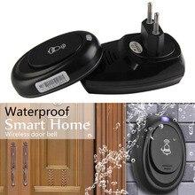 Hot 36 Songs Wireless Remote Control Door Bell 100M Range Waterproof Intelligent Doorbell Transmitter Receiver EU Plug 2019