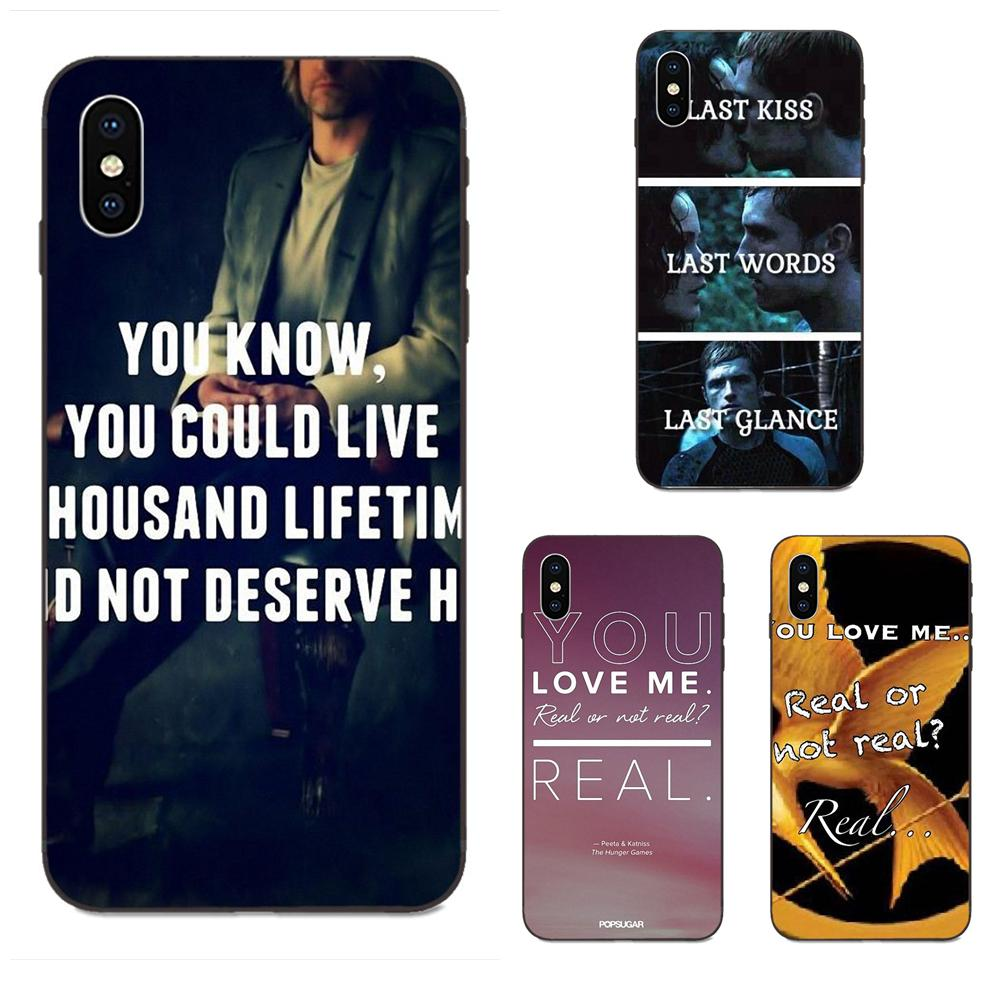 The Hunger Games Real Or Not Quotes For Galaxy A8 A9 Star Note 4 8 9 10 S3 S4 S5 S6 S7 S8 S9 S10 Edge Lite Plus Pro G313