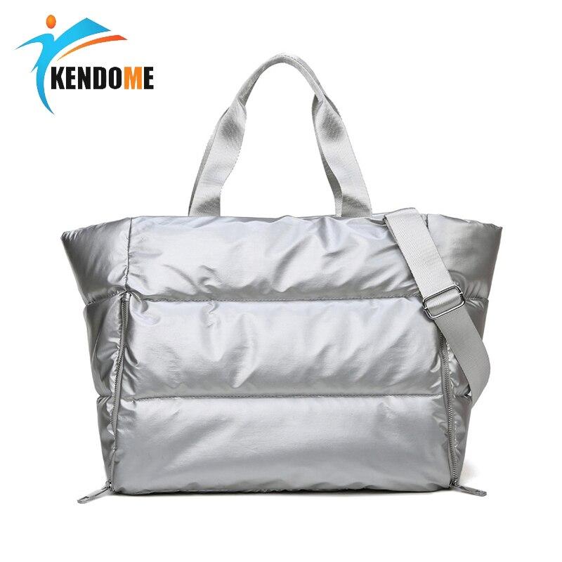 Women Gym Fitness Bag Waterproof Sports Bag Dry Wet Separation Swim Bag Yoga Handbag One Shoulder Travel Bag