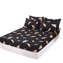 Fitted-Sheet-Set Bedding Linens Double-Bed King-Size ROMANZO for Sabanas Mattress-Cover