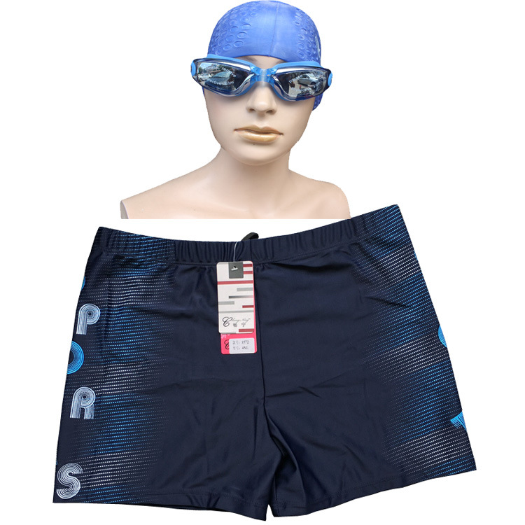 Swimming Suit Extra Large Men's Comfortable Fat Swimming Trunks Plus-sized Boxer Loose-Fit Swimwear 200-300 Catty