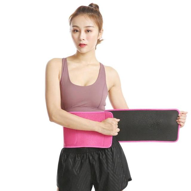 Adjustable Pocket Fitness Waist Belt Exercise Neoprene Weight Loss Sweat Waistband Slimming Gym Training Abdomen Lumbar Support 2