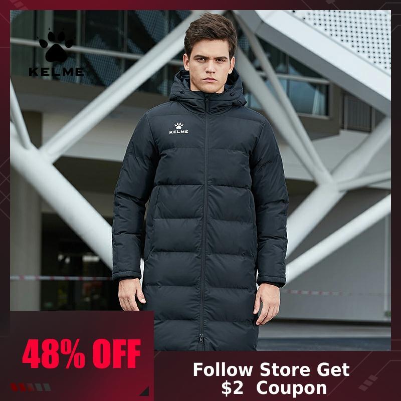 KELME Men Winter Jacket Sports Training Male Warm  Women Coat Cotton Thick Winter Coat Men Solid Overcoat Outerwear 3881406