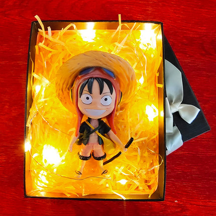 New Japan Anime One Piece Monkey D Luffy Q Style Figure
