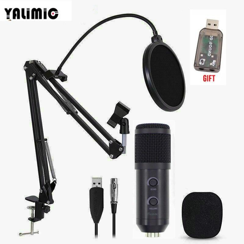 BM-900 микрофон для записи Подкаст с подставкой профессиональный конденсаторный Студийный микрофон для вещания