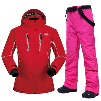 Snowboard Suits Women Winter Windproof Waterproof Female Ski Jacket and Snow Pants Sets Super Warm Brands Women Ski Suit Brands dropshipping waterproof sportwear female ski suit women winter ski wear hooded jacket strap pants snow jacket and pants