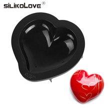 SILIKOLOVE – moule à gâteau en Silicone en forme de cœur, antiadhésif, poêle à Mousse, outils de décoration de Dessert, noir, nouvelles formes de cuisson