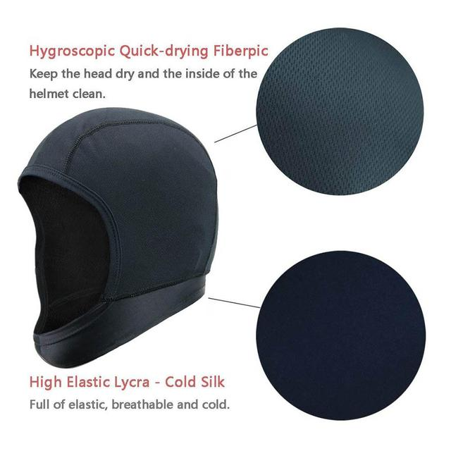 Motorcycle Helmet, Unisex, Quick Drying, Breathable, Helmet Inner Cap
