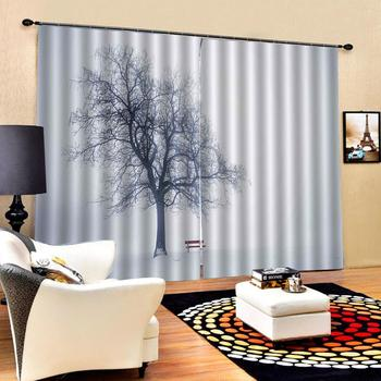 Drapes Cortinas Customized size Luxury Blackout 3D Window Curtains For Living Room grey curtains