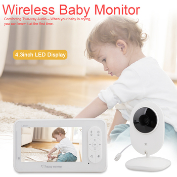 Wireless Video Color Baby Monitor with 4.3Inches LCD 2 Way Audio Talk Surveillance Security Camera Babysitter image