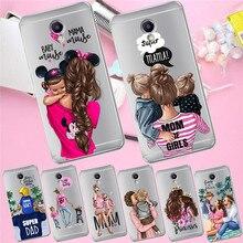 Girl luxury For Meizu M3S M5 M5S M5C M6 M3 Note U10 U20 phone Case Cover Coque Etui capa Funda shell capinha cute woman