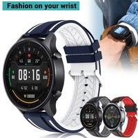 Correa de silicona para reloj inteligente Xiaomi MI, pulsera deportiva de repuesto de 22mm de Color
