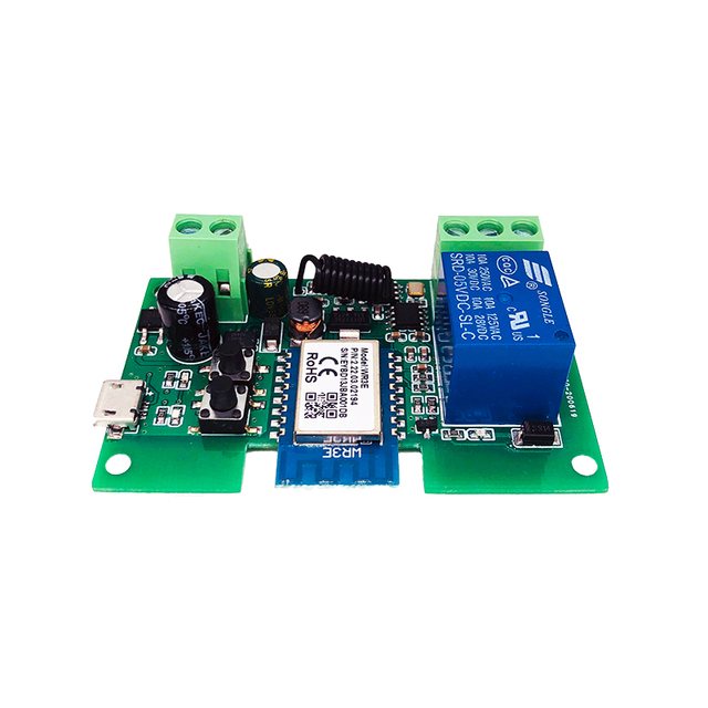 Smart Module USB 7-32V DIY 1 Channel Jog Inching Self-locking WIFI Wireless Smart Home Switch Remote Control with Amazon Alexa 4
