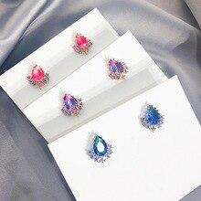 2019 moda coreana bonitos pendientes de cristal para mujeres elegantes pendientes joyería regalos de fiesta Accesorios