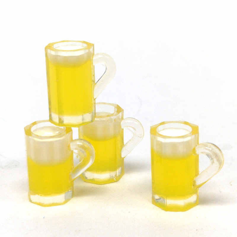 Dollhouse Miniature 1:12 Scale Kitchen Beer Cup Alcohol Drink Mug Decor Kid Toy