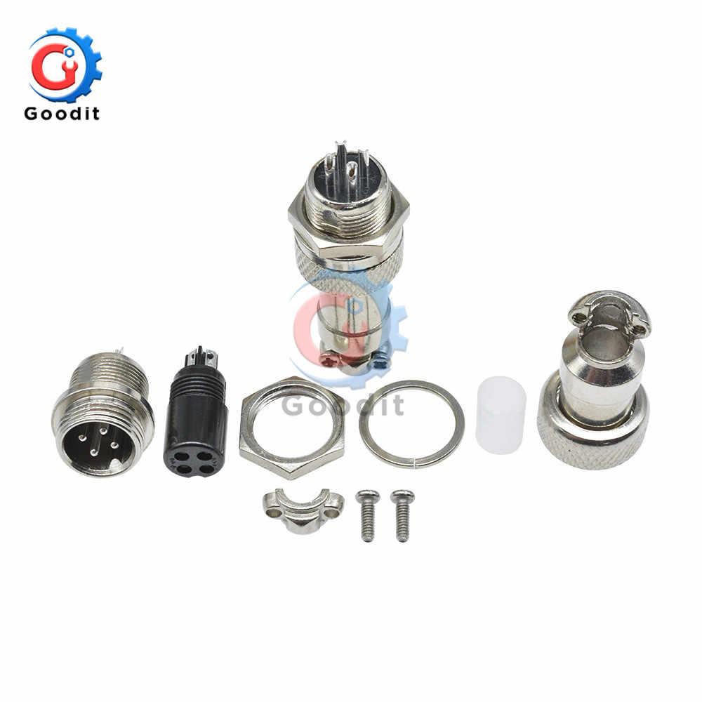 1 Juego, GX12 GX16, 2/3/4/5/6/7/8/9/10 pines macho + hembra, conector Circular de 12mm y 16mm, conector Circular, Conector de cable con tapa de plástico