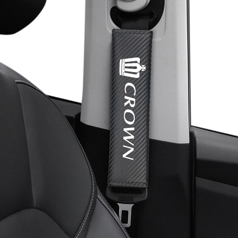 Автомобильные аксессуары, чехлы для ремней безопасности автомобиля, чехол для ремня безопасности для Toyota CROWN, автостайлинг