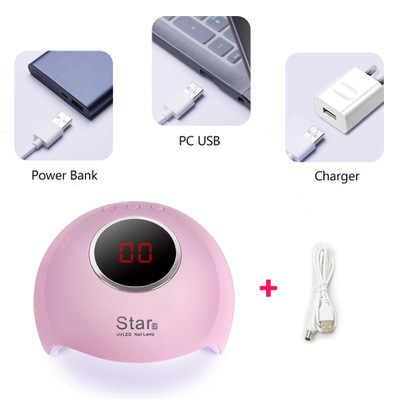 36W החדש Star6 נייל אור נייל מייבש USB מניקור LCD צג כל ג 'ל לק ציפורניים אמנות כלים uv אור נייל מייבש