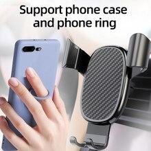 Suporte do telefone móvel para o carro, suporte do carro, suporte do telefone, suporte fixo, suporte automático do aperto da gravidade