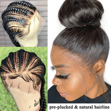 Perucas de cabelo humano de renda completa pré-arrancadas peruca de renda completa com cabelo de bebê remy perucas brasileiras para mulheres negras