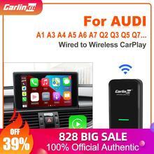 Carlinkit 3 adattatore CarPlay Wireless per Audi A3 A4 A5 A6 A7 Q2 Q3 Q5 Q7 Q8 R8 TT e-tron Sportback GT Auto Bluetooth WIFI FM Kit