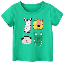 Kids T Shirt Summer Baby Boy Girl Cotton Tees Short Sleeve Casual Wear Toddler Tops Clothes Children Clothing Animal T-shirts branded 100% cotton 2017 baby girl clothing toddler children kids clothes summer striped tees t shirt short sleeve t shirt girls