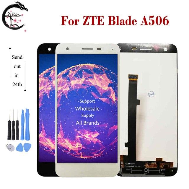 شاشة LCD جديدة 5.2 بوصة لـ ZTE Blade A506 شاشة LCD كاملة تعمل باللمس لوحة محول الأرقام الاستشعار الجمعية لاستبدال شاشة ZTE A506