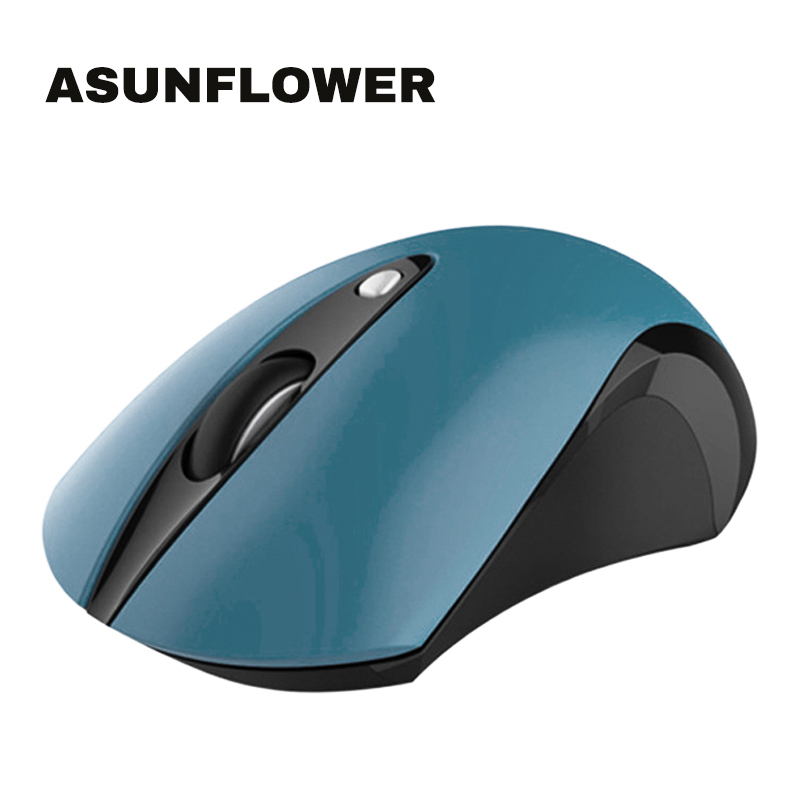Asunflower 2.4G WiFi Wireless Mouse For Laptop NoteBook Office Game Portable 1600 DPI Wireless Mouse For Windows 10 Mac OS Linux image