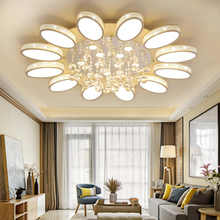 Modern Crystal Chandelier Lighting With Remote Control Dimmable AC 110-240V LED Lamps For Living Room Bedroom Deco Indoor Light - DISCOUNT ITEM  49% OFF All Category
