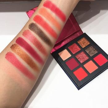 Beauty Glazed 9 Colors Eyeshadow Palette Shimmer Waterproof Metallic Matte Eye Shadow Powder Make Up Maquillage 16