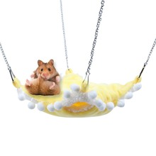 New Hammock Birds Nest Parrot Hamster Berth Toy Hammock Bird Hanging Cave Snuggle Cottage Bed Pet Hanging Bed Canvas 3 Colors